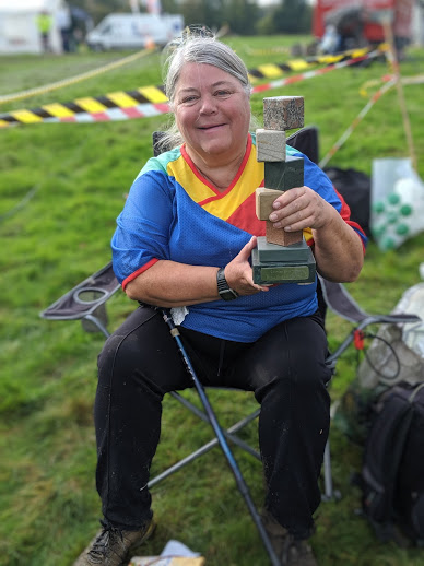 Babs with CompassSport Trophy